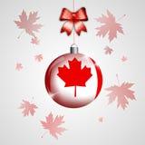 Christmas ball with flag of Canada Stock Image