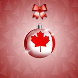 Christmas ball with flag of Canada Stock Photography