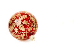 Christmas ball with flake pattern Stock Photos