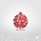 Christmas ball with floral decorations Royalty Free Stock Images