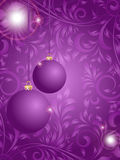 Christmas ball on flower background Royalty Free Stock Photo