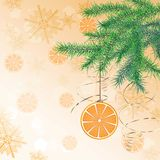 Christmas ball in form of orange Royalty Free Stock Images