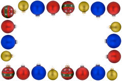 Christmas ball frame Royalty Free Stock Image