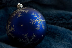 Christmas ball on fur Royalty Free Stock Photography