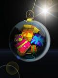 Christmas ball and Gifts Stock Photos