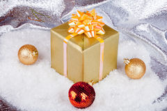 Christmas ball and gifts Royalty Free Stock Photography