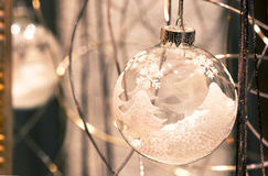Christmas ball glass. With the reflexion on a mirror Stock Photography