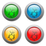 Christmas ball glass button set Stock Images