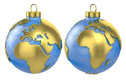 Christmas ball globe, Europe and Africa Stock Photos