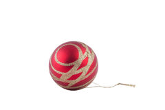 Christmas ball with gold Russia. Red Christmas ball with gold New Year Stock Image
