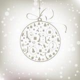 Christmas Ball Golden For Your Design Stock Photos