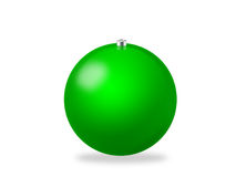 Christmas ball green. Green Christmas ball. Computer generated (clipping path Royalty Free Stock Photos