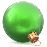 Christmas ball green decoration bauble New Year`s Eve ornament Stock Photography