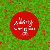 Christmas ball greeting card template Royalty Free Stock Images