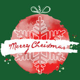 Christmas ball. Grunge Style. Vector Christmas card. Christmas b Royalty Free Stock Photos