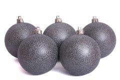 Christmas ball Hanging. Christmas bauble isolated on white Stock Photos