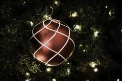 Christmas ball hanging on tree. Royalty Free Stock Image