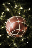 Christmas ball hanging on tree. Royalty Free Stock Photography
