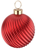 Christmas ball Happy New Year bauble red decoration sphere Stock Images