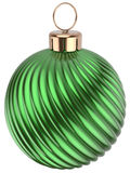 Christmas ball Happy New Years Eve bauble green decoration Royalty Free Stock Photography