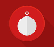 Christmas ball icon. In flat design Stock Photo