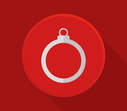 Christmas ball icon Royalty Free Stock Images