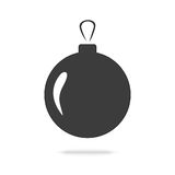 Christmas ball icon. Isolated on  white background Stock Photo