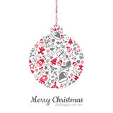Christmas ball and icon vector illustration Royalty Free Stock Images