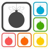 Christmas ball icons set Royalty Free Stock Image