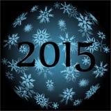 2015 Christmas ball Royalty Free Stock Photo