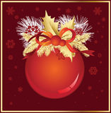 Christmas Ball In Red Colors Royalty Free Stock Images