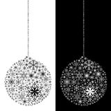 Christmas ball isolated Royalty Free Stock Images