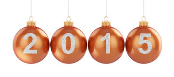 2015 christmas ball isolated Stock Photos