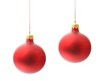 Christmas ball. Isolated on white background Stock Photography