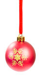 Christmas ball isolated Stock Images
