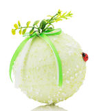 Christmas ball isolated on the white background royalty free stock photos