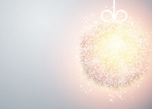 Christmas ball light abstract background. Royalty Free Stock Photo