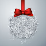Christmas ball light background. Royalty Free Stock Photo