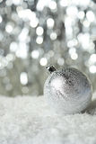 Christmas ball on lights background, close up Royalty Free Stock Image