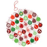 Christmas ball made of small ones Royalty Free Stock Photo