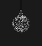 Christmas ball made of snowflakes Stock Photography