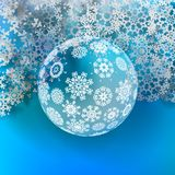Christmas ball made from snowflakes. Stock Photo