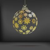 Christmas ball made from snowflakes. + EPS10 Royalty Free Stock Images