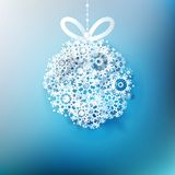 Christmas ball made from snowflakes. EPS 10 Royalty Free Stock Image