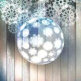 Christmas ball made from snowflakes. EPS 10 Royalty Free Stock Photography