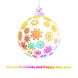 Christmas ball made from snowflakes. + EPS8. Vector file Stock Illustration