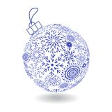 Christmas Ball Of Made Snowflakes Stock Images