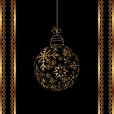 Christmas ball made of snowflakes isolated Royalty Free Stock Photography