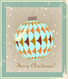 Christmas Ball made of vintage style Royalty Free Stock Images