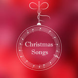 Christmas ball with music notes Royalty Free Stock Photography